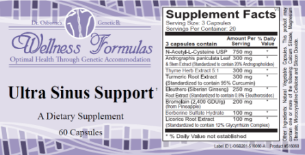 Ultra Sinus Support Natural sinus formula